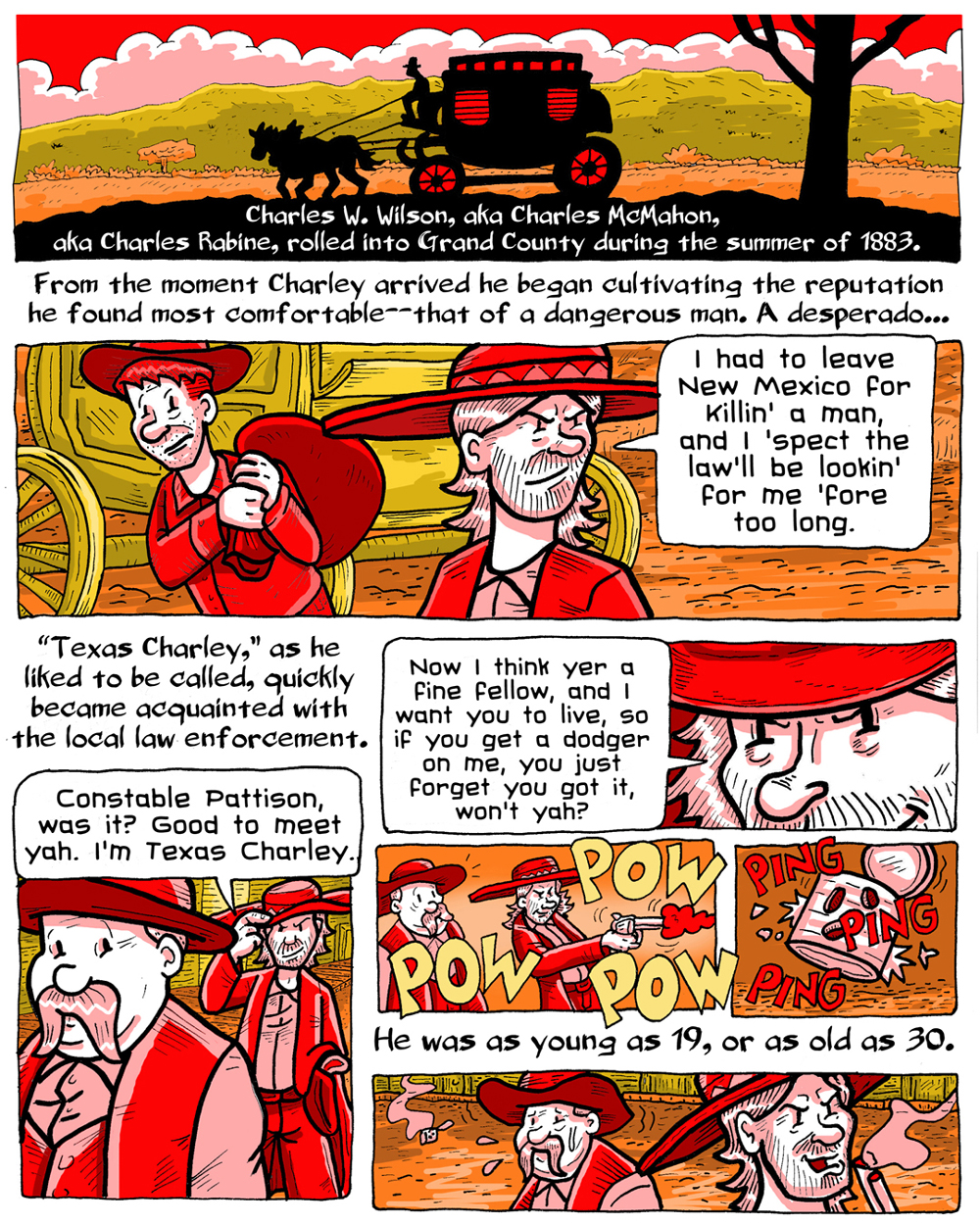 Life is Grand: Texas Charley pg.1, by Mister V (click to enlarge)