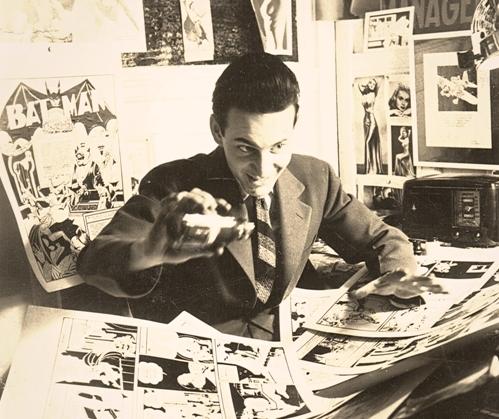 Jerry Robinson in his studio (1940).