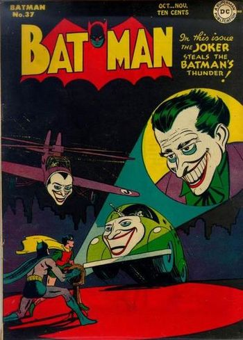 Batman (1940) #37, cover by Jerry Robinson.