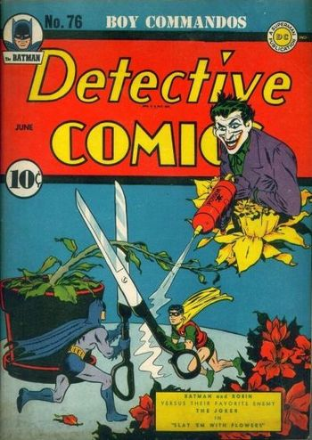 Detective Comics (1937) 76, cover by Jerry Robinson.