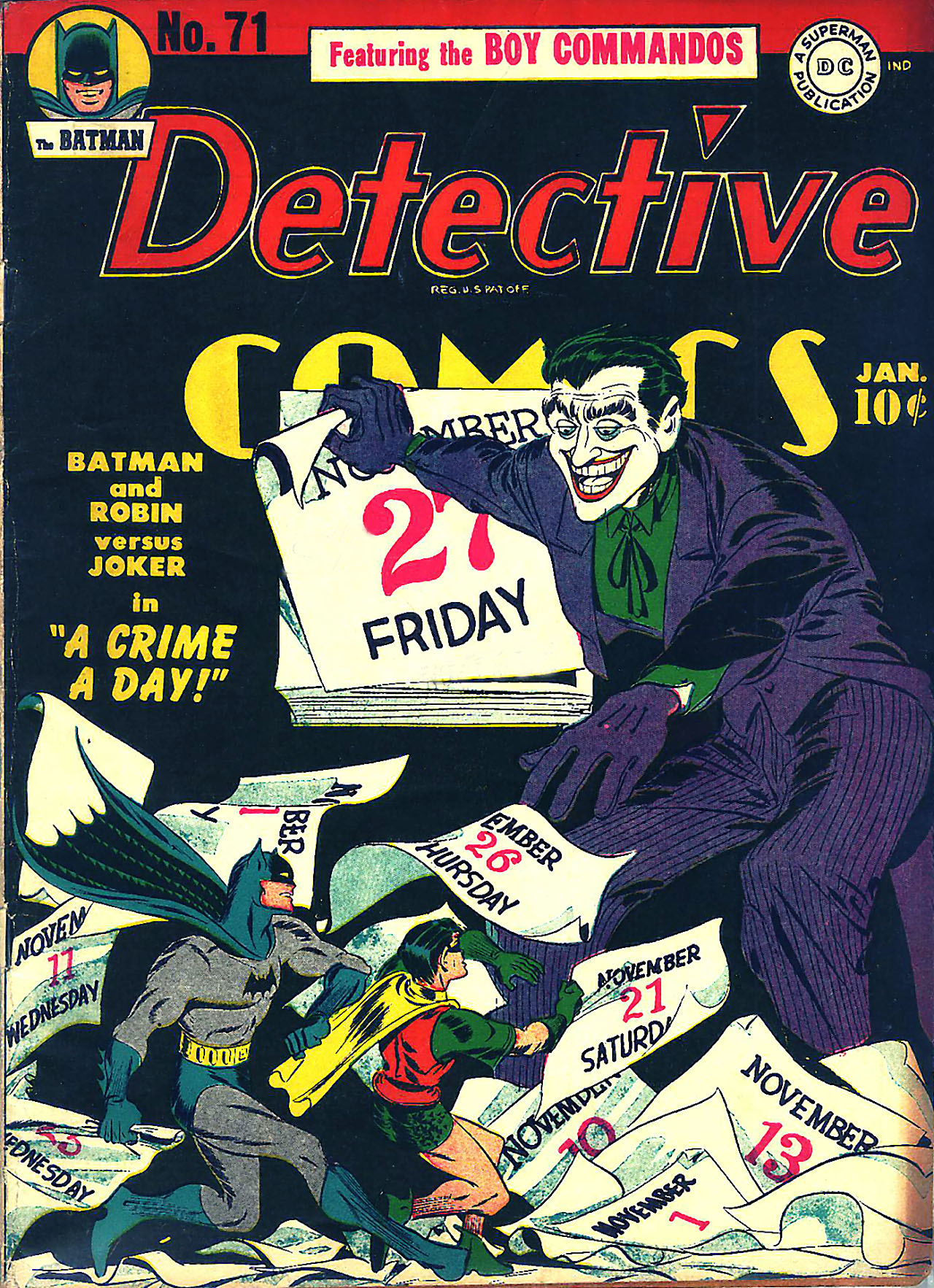 Detective Comics (1937) #71, cover by Jerry Robinson.