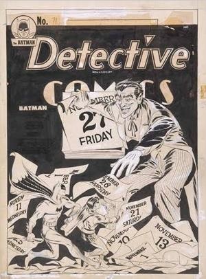 Detective Comics (1937) #71, original cover art by Jerry Robinson.