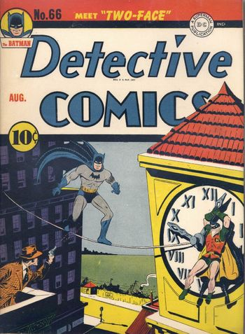 Detective Comics (1937) 66, cover by Jerry Robinson.