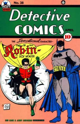 Detective Comics (1937) #38, cover penciled by Bob Kane & inked by Jerry Robinson.