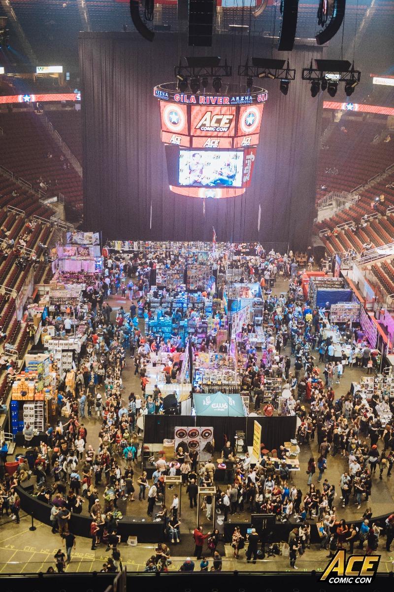 Ace Comic Con AZ as seen from above.