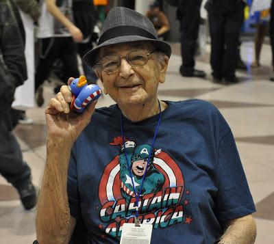 Joe Simon (with a Captain America ducky).