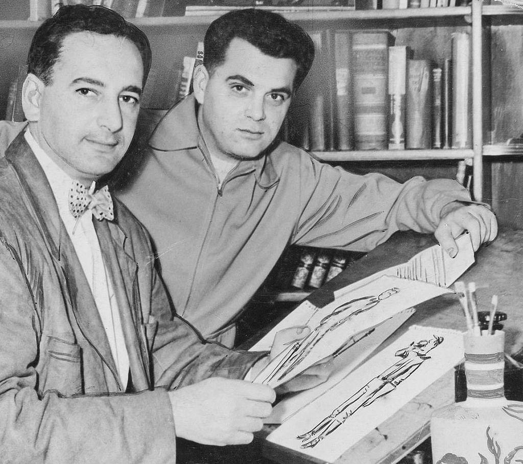 Joe Simon with his career partner, Jack Kirby.