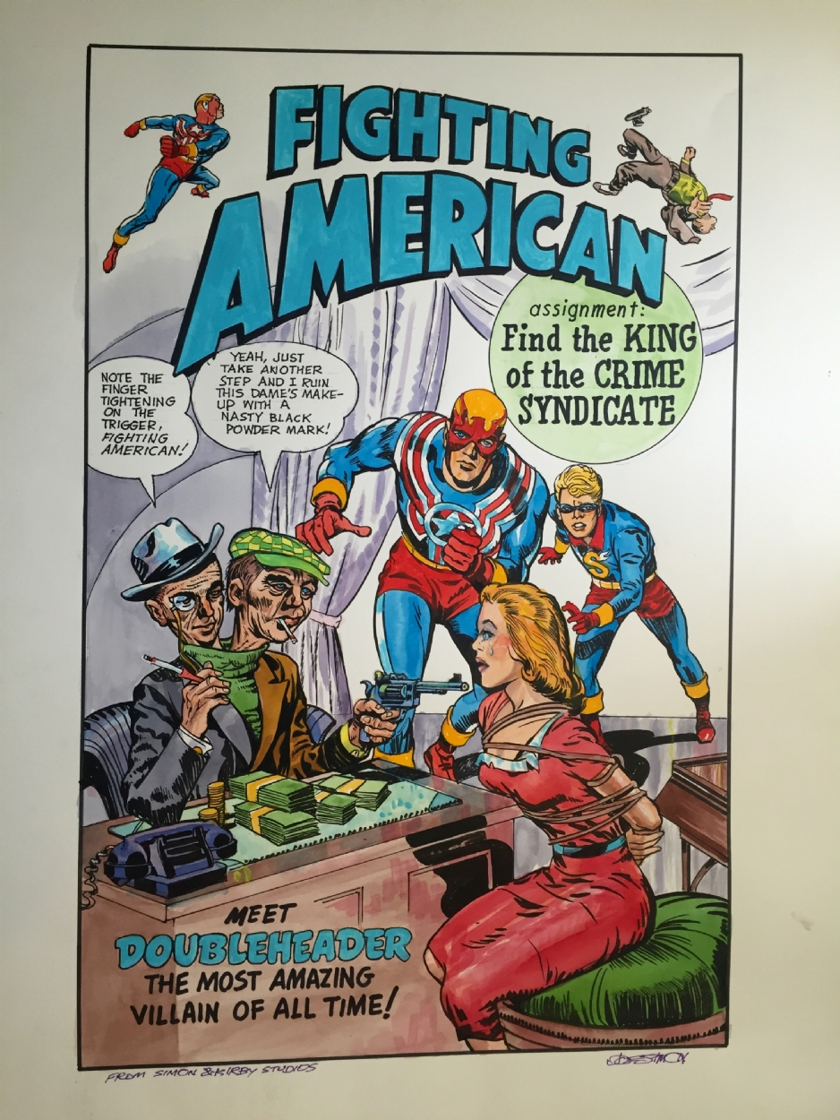 A Fighting American cover recreation done by Joe Simon.