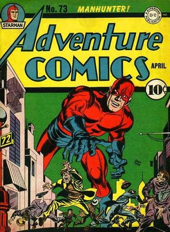 Adventure Comics (1938) #73, cover penciled by Jack Kirby &inked by Joe Simon.