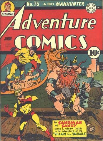 Adventure Comics (1938) #75, cover penciled by Jack Kirby &inked by Joe Simon.