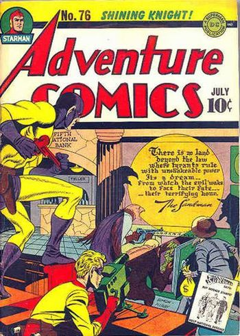 Adventure Comics (1938) #76, cover penciled by Jack Kirby &inked by Joe Simon.
