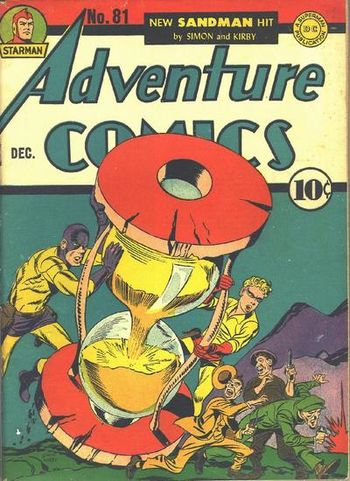 Adventure Comics (1938) #81, cover penciled by Jack Kirby &inked by Joe Simon.