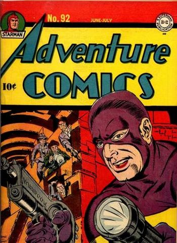 Adventure Comics (1938) #92, cover penciled by Jack Kirby &inked by Joe Simon.