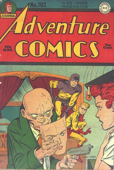 Adventure Comics (1938) #102, cover penciled by Jack Kirby &inked by Joe Simon.