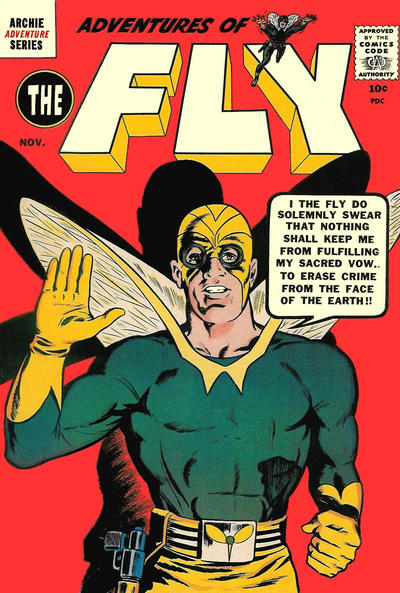 Adventures of The Fly (1959) #2, cover by Joe Simon.