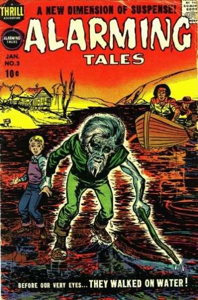 Alarming Tales (1957) 3, cover by Joe Simon.
