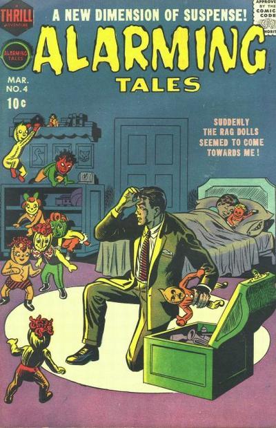 Alarming Tales (1957) #4, cover by Joe Simon.