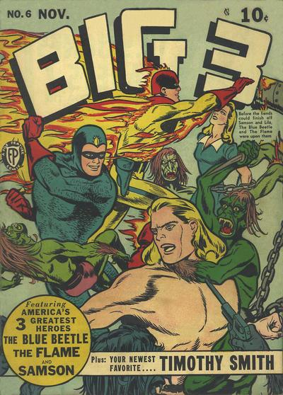 Big 3 (1940) #6, cover by Joe Simon.
