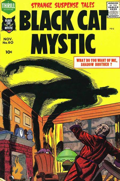 Black Cat Mystic (1956) #60, cover by Joe Simon.