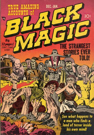 Black Magic (1950) #1, cover penciled by Jack Kirby &inked by Joe Simon.