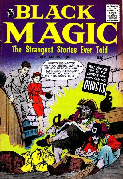 Black Magic (1950) #48, cover by Joe Simon.