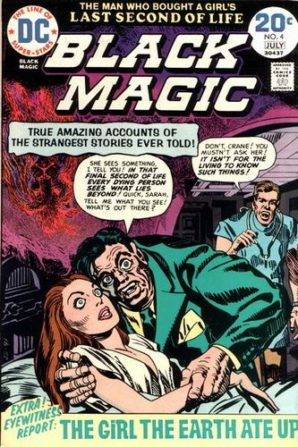 Black Magic (1973) #4, cover penciled by Jack Kirby &inked by Joe Simon.