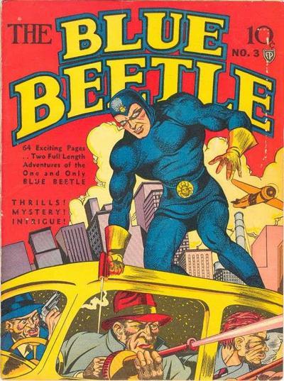 Blue Beetle (1939) #3, cover by Joe Simon.