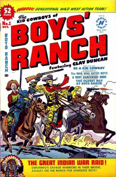 Boys Ranch (1950) 1, cover penciled by Jack Kirby &inked by Joe Simon.
