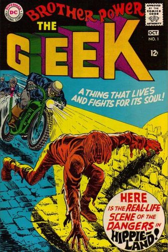 Brother Power, The Geek (1968) #1, cover by Joe Simon.