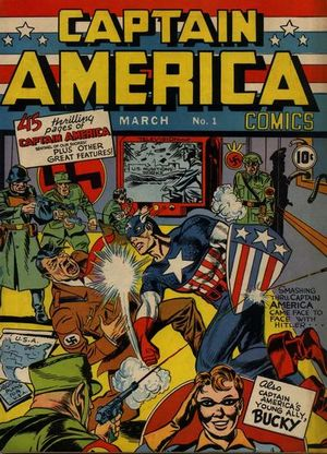 Captain America Comics (1941) #1, cover by Joe Simon & Jack Kirby.