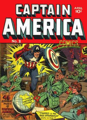 Captain America Comics (1941) #2, cover by Joe Simon.