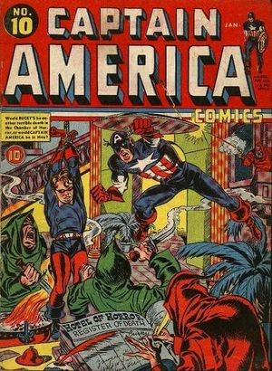 Captain America Comics (1941) #10, cover penciled by Jack Kirby & inked by Joe Simon.