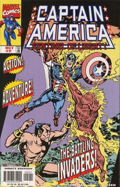 Captain America:Sentinel of Liberty (1998) #2, cover by Joe Simon.