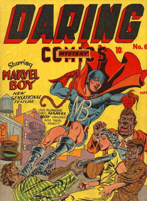 Daring Mystery Comics (1941) #6, cover penciled by Jack Kirby &inked by Joe Simon.