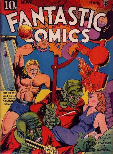 Fantastic Comics (1939) #6, cover by Joe Simon.