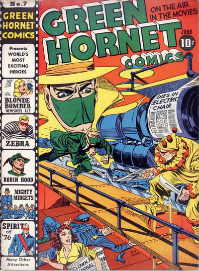 Green Hornet Comics (1942) #7,cover penciled by Jack Kirby &inked by Joe Simon.