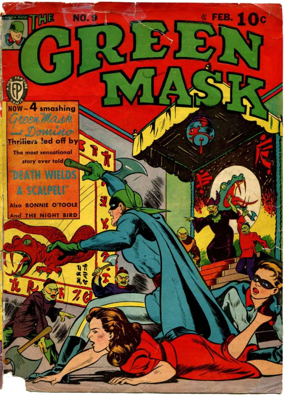 Green Mask, The (1940) #9, cover by Joe Simon.