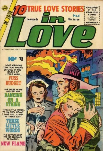 In Love (1955) #5,cover penciled by Jack Kirby &inked by Joe Simon.