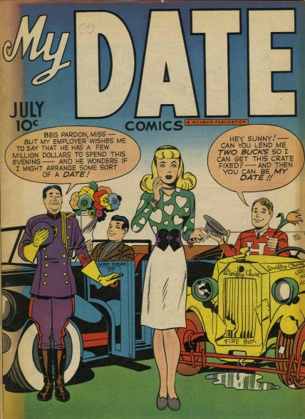 My Date (1947) #1,cover penciled by Jack Kirby &inked by Joe Simon.
