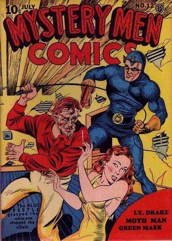 Mystery Men Comics (1939) #12, cover by Joe Simon.