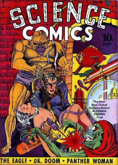 Science Comics (1940) #4, cover by Joe Simon.