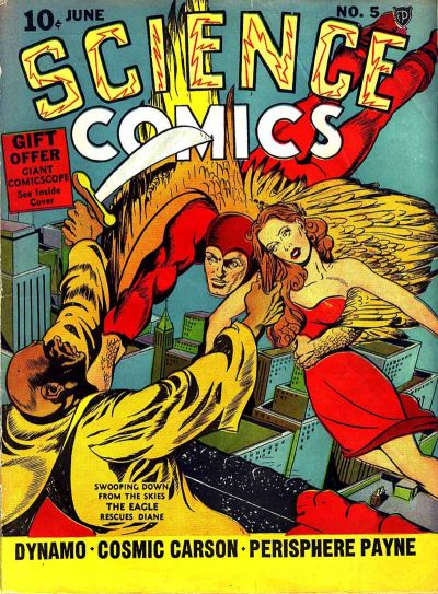Science Comics (1940) #5, cover by Joe Simon.