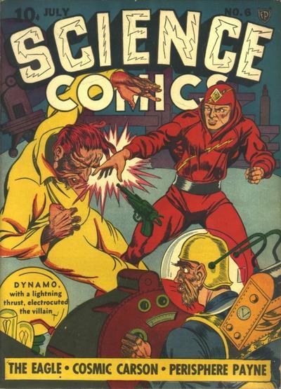 Science Comics (1940) #6, cover by Joe Simon.