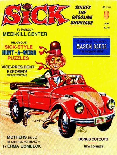 Sick (1974) #98, cover by Joe Simon.