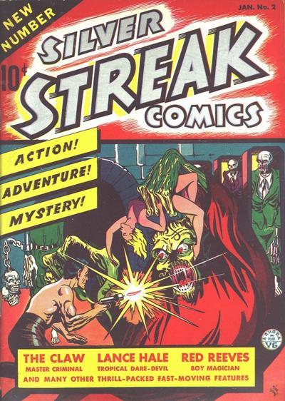Silver Streak Comics (1939) #2, cover by Joe Simon.