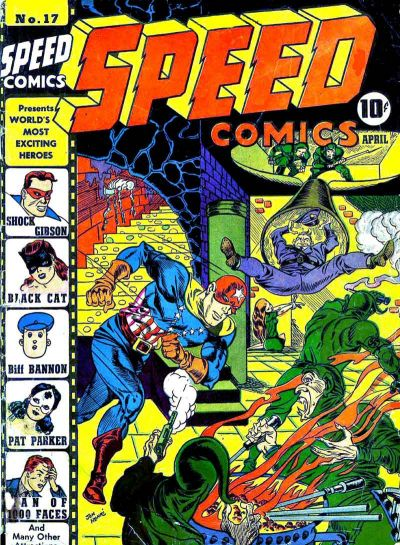Speed Comics (1941) #17, cover by Joe Simon.