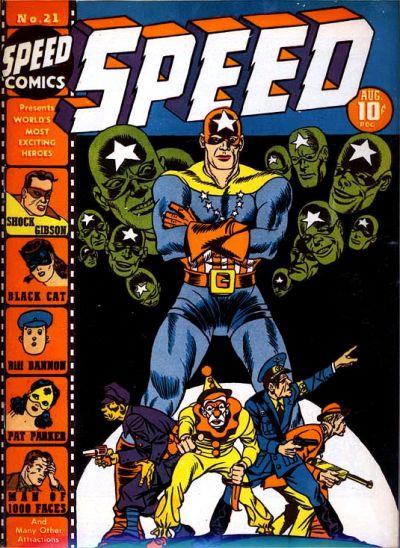 Speed Comics (1941) #21, cover by Joe Simon.