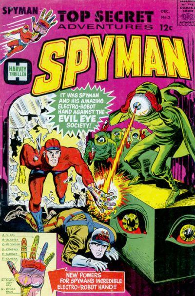 Spyman (1966) #2, cover by Joe Simon.