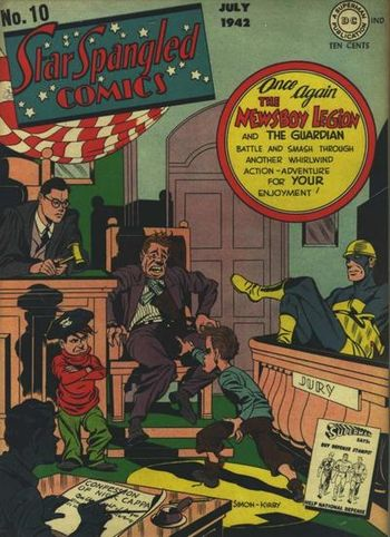 Star Spangled Comics (1941) #10,cover penciled by Jack Kirby &inked by Joe Simon.