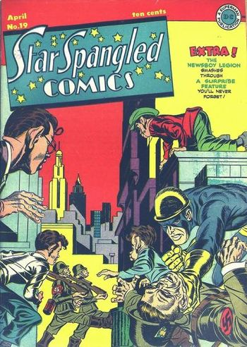 Star Spangled Comics (1941) #19,cover penciled by Jack Kirby &inked by Joe Simon.